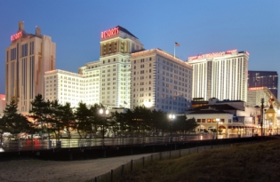 Skyline of Hotels in Atlantic City N.J.