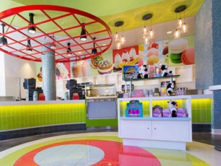 BLVD Creamery ice cream parlor and souvenir shop