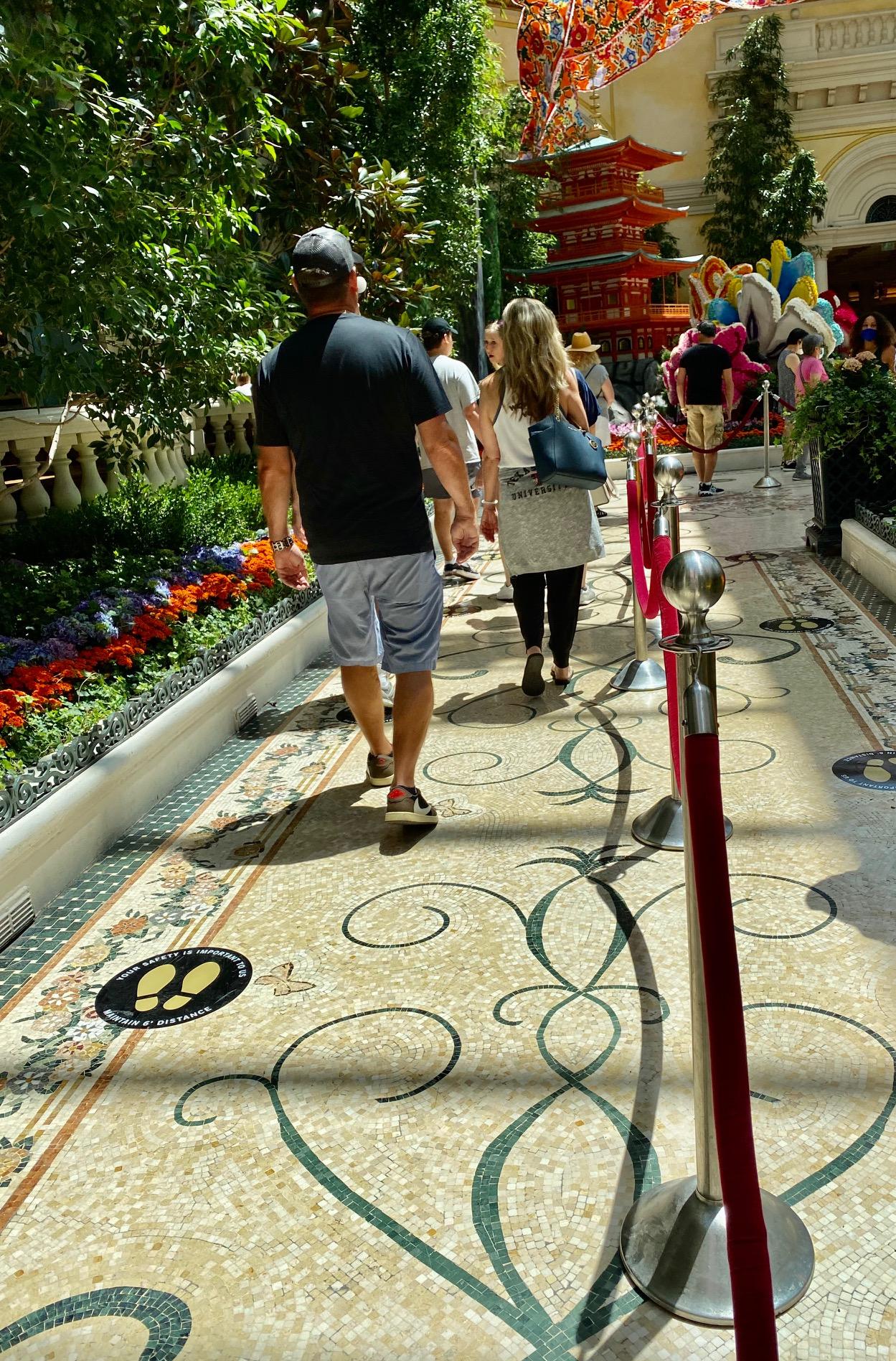 Bellagio Gardens Social Distance