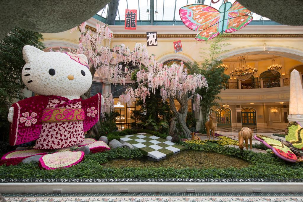 Bellagio Gardens Hello Kitty Display