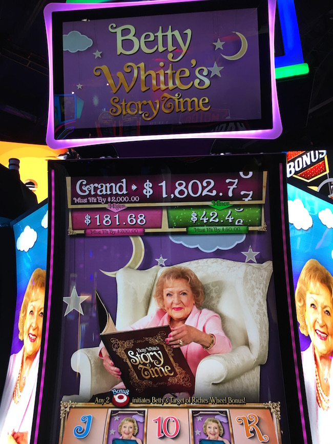 Betty White Image on Slot Machine