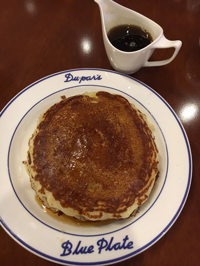 Dupars Pancakes Blue Plate