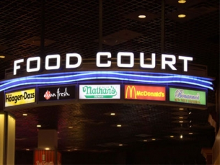 MGM food court in the district