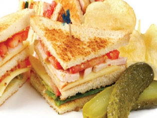 Club Sandwich with Pickle