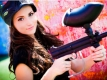 Hot Girl with Paintball Gun