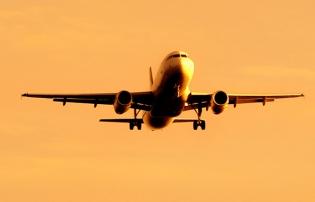 Flight at dusk single plane