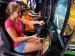 Girl Playing Game Arcade Sante Fe Station