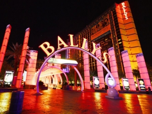 Ballys Entrance at Night