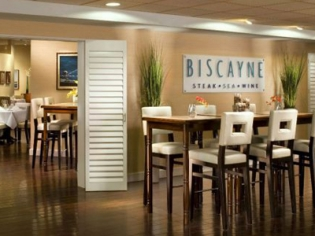 Biscayne Sign and Seating Area