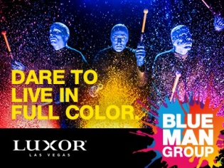 Blue Man Group Photo Las Vegas Luxor