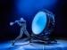 Blue Man Beating Giant Drum Vegas