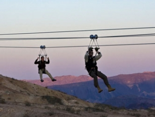 Bootleg Canyon Flightlines Zip Line W/ Sunset View