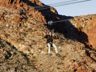 Bootleg Canyon Flightlines Zip Line Ride w/ Mountain View