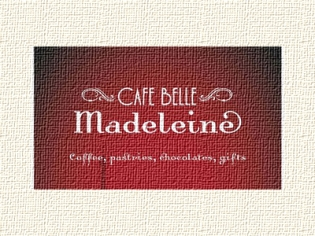 Cafe Belle Madeleine logo - coffee, pastries, chocolates, gifts