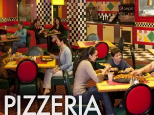 Circus Pizzeria With Patrons