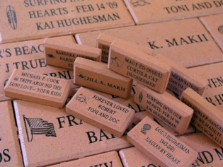 Commemorative Bricks Piled Together