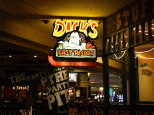 Dicks Last Resort Neon Entrance Sign