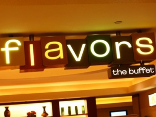 Flavors Buffet Neon Sign