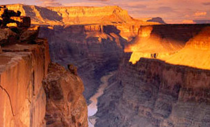 Grand Canyon yellow sunrise