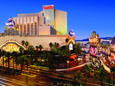 Getaways MARKET PICK About Harrah's Hotel and Casino Las Vegas. Property Location Located in Las Vegas (Las Vegas Strip), Harrah's Hotel and Casino Las Vegas is a 3-minute walk from LINQ Promenade and 7 minutes by foot from High Roller.