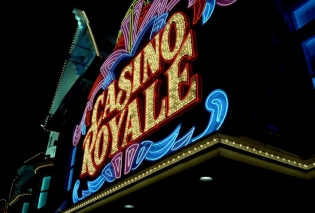 Casino Royale Neon Sign on Las Vegas Strip