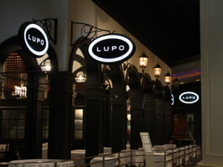 Lupo Wolfgang Puck Entrance Sign
