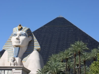 Luxor Pyramid View with Sphinx