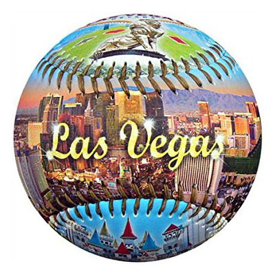 Baseball cover with Las Vegas Scenery