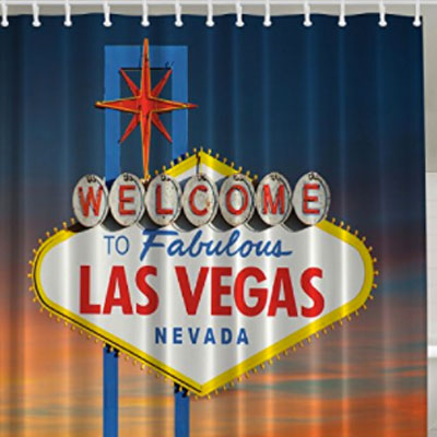 Vegas Logo Shower Curtain
