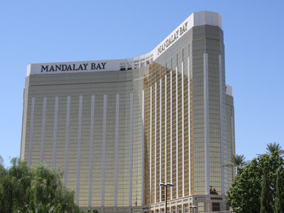 View of Mandalay Bay from strip