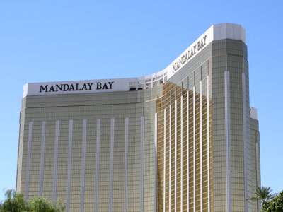 Mandalay Bay Hotel from ground