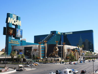 View of MGM Grand from Strip