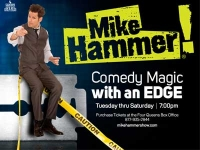 Mike Hammer Comedy Magic at the four Queens Downtown Las Vegas