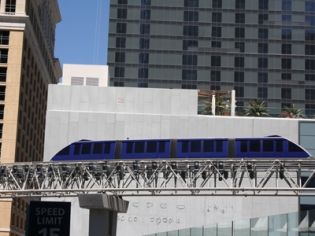 A Seven-stop, Elevated Train that travels along a 3.9-mile Rte connecting Major Hotels & Attractions along the Vegas Strip