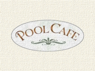 Pool Cafe Logo at the Bellagio
