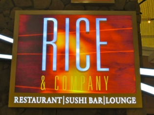 Rice and Company sign in Mandalay Shops
