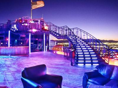 Decker nightclub w a striking steel staircase offering the best view