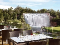 The Country Club Outdoor Seating and Waterfall
