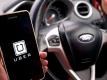 uber in car