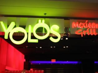 Yolos Neon Entrance Sign