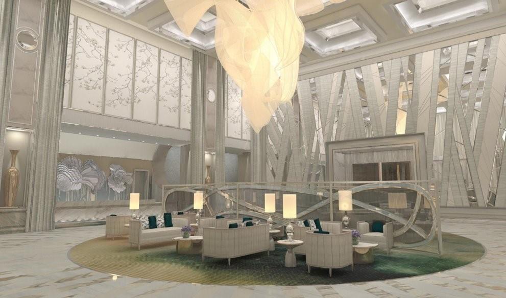 Crockfords Las Vegas - Lobby Rendering