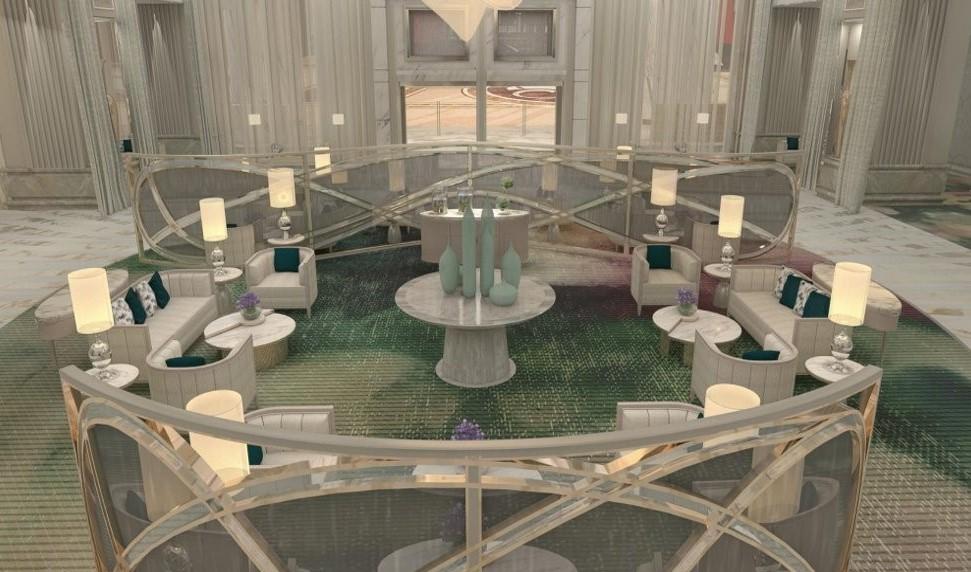 Crockfords Las Vegas - Lobby Rendering 2
