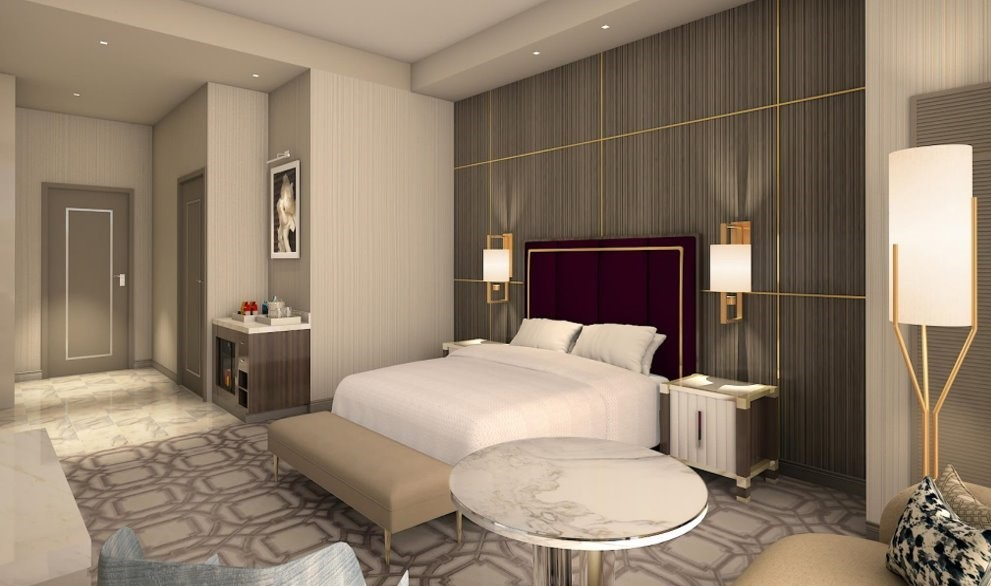 Crockfords Las Vegas - Superior King Guestroom Rendering 2