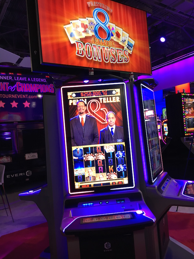 Penn & Teller Slot Machine Las Vegas