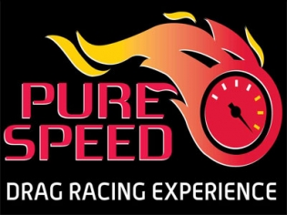 Pure Speed Drag Racing Logo Las Vegas Motor Speedway