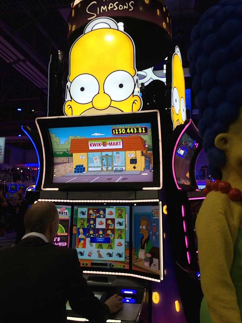 The Simpsons slot machine - Homer