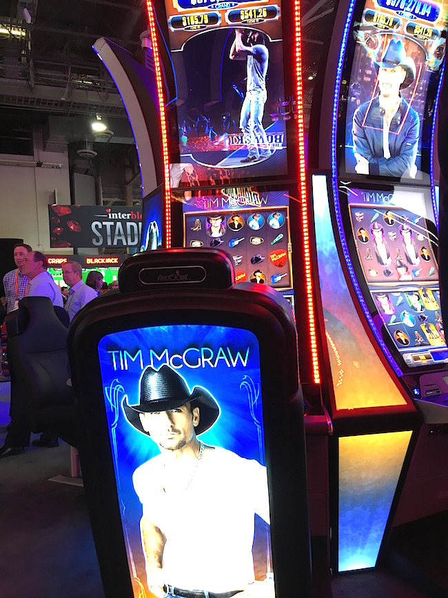 Tim McGraw Slot Machine in Vegas