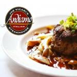 Andiamo Steakhouse Steak and Logo
