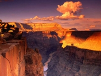 West Rim of Grand Canyon Gorgeous Sunset