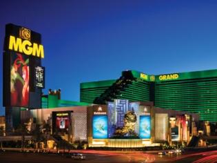 MGM Grand Exterior at Dusk